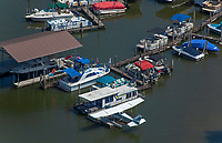 aerial photograph of N3782S, a Cessna 172 on floats at the Duncan Boat Dock, Knoxville, Knox County, Tennessee