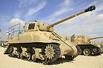 Israel, Shephelah,  M4 Serman tank at the Armored Corps Memorial Site and Museum in Latrun