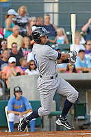 Wilmington Blue Rocks outfielder Nick Francis #16 at bat during a game vs. the Myrtle Beach Pelicans at BB&T Coastal Field in Myrtle Beach,SC on July 20, 2010.  Myrtle Beach defeated Wilmington by the score of 5-4.  Photo By Robert Gurganus/Four Seam Images