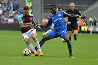 Manuel Lanzini of West Ham and Idrissa Gueye Of Everton during West Ham United vs Everton, Premier League Football at The London Stadium on 13th May 2018