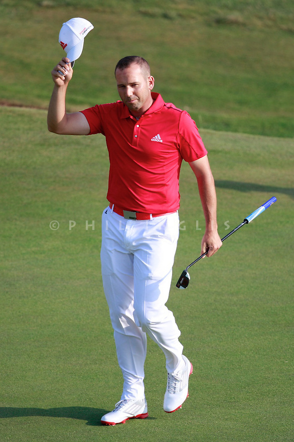 Sergio GARCIA (ESP) in action during the second round of the 143rd Open Championship played at Royal Liverpool Golf Club, Hoylake, Wirral, England. 17 - 20 July 2014 (Picture Credit / Phil Inglis)