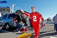 January 02, 2012:    Ohio State Buckeyes fans tailgate prior to the start of the 2012 Taxslayer.com Gator Bowl between the Florida Gators and the Ohio State Buckeyes at EverBank Field in Jacksonville, Florida.