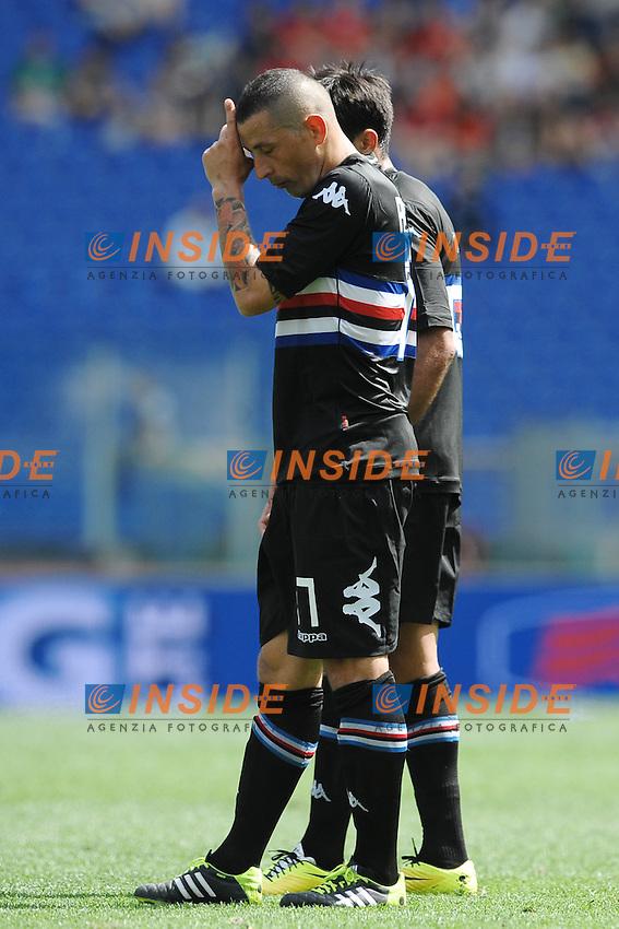 Angelo Palombo Sampdoria.<br /> Roma 06-04-2014 Stadio Olimpico. Football Calcio 2013/2014 Serie A. Lazio - Sampdoria. Foto Antonietta Baldassarre / Insidefoto