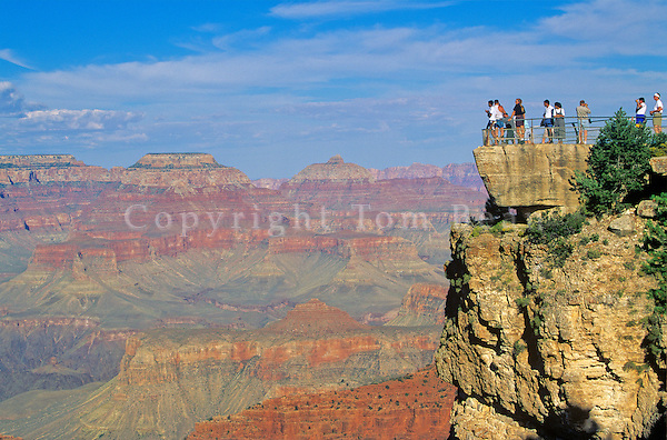 People view Grand Canyon from Mather Point, South Rim of Grand Canyon National Park, Arizona, AGPix_0155.