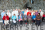 Some of the residents from Allmans Terrace at the Grotto mass at the Lourdes Grotto, Killarney on Tuesday evening with Fr Paf horgan, Fr Niall Howard, Fr Simon Twomey and Fr Paddy O'Donoghue