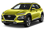 2018 Hyundai Kona Limited 5 Door SUV Angular Front automotive stock photos of front three quarter view