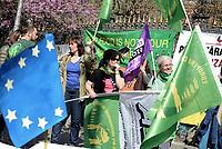Roma, 25 Marzo 2017<br /> Corteo per una Europa solidale , democratica e accogliente, contro muri e frontiere per i migranti.<br /> Via Campesina.<br /> La nostra Europa