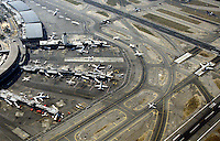 Aerial of an airport.