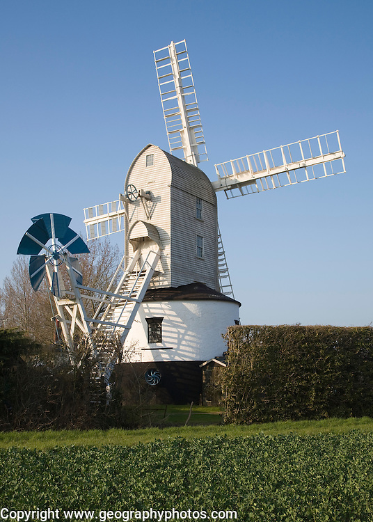 Windmill, Saxtead Green post mill, Suffolk, England