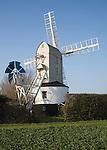 Windmill, Saxtead Green post mill, Suffolk, England