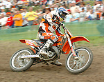 Motocross, MX2 WM 2004, Weltmeisterschaft, Grand Prix of Europe, Gaildorf (Germany) Jonathan Barragan (SPA), KTM