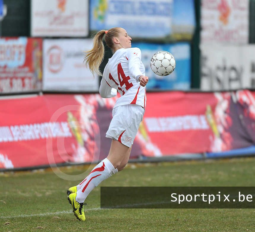 Belgium U19 - Switzerland U19 : Nina Stapelfeldt.foto DAVID CATRY / Nikonpro.be