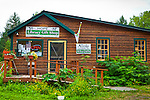 Gift Shop at Hope Community Library, Hope, Southcentral Alaska, Summer.
