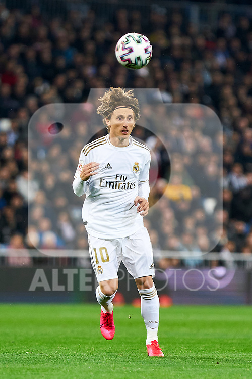 Luka Modric of Real Madrid during La Liga match between Real Madrid and Real Sociedad at Santiago Bernabeu Stadium in Madrid, Spain. February 06, 2020. (ALTERPHOTOS/A. Perez Meca)