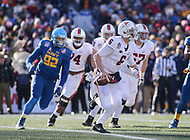 Annapolis, MD - December 28, 2017: Virginia Cavaliers quarterback Kurt Benkert (6) scrambles during the game between Virginia and Navy at  Navy-Marine Corps Memorial Stadium in Annapolis, MD.   (Photo by Elliott Brown/Media Images International)