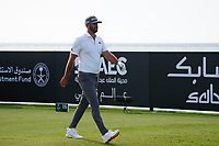 Dustin Johnson (USA) on the 16th during Round 3 of the Saudi International at the Royal Greens Golf and Country Club, King Abdullah Economic City, Saudi Arabia. 01/02/2020<br /> Picture: Golffile | Thos Caffrey<br /> <br /> <br /> All photo usage must carry mandatory copyright credit (© Golffile | Thos Caffrey)