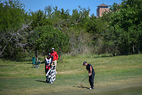 Billy Horschel (USA) hits his approach shot on 2 during Round 4 of the Valero Texas Open, AT&amp;T Oaks Course, TPC San Antonio, San Antonio, Texas, USA. 4/22/2018.<br /> Picture: Golffile | Ken Murray<br /> <br /> <br /> All photo usage must carry mandatory copyright credit (&copy; Golffile | Ken Murray)