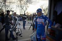Bjorn Leukemans (BEL) about to go home<br /> <br /> GP Le Samyn 2014