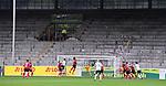FussballFussball: agnph001:  1. Bundesliga Saison 2019/2020 27. Spieltag 23.05.2020<br />SC Freiburg - SV Werder Bremen<br />Leere Nordtribuene des Schwarzwald-Stadion mit Spielszene<br />FOTO: Markus Ulmer/Pressefoto Ulmer/ /Pool/gumzmedia/nordphoto<br /><br />Nur für journalistische Zwecke! Only for editorial use! <br />No commercial usage!