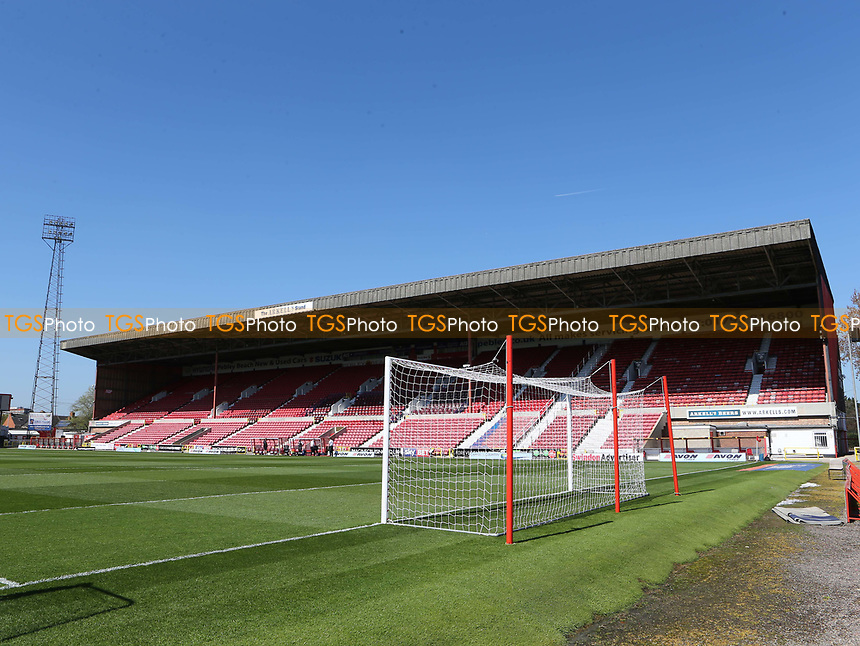 General view of The Arkell's Stand at Swindon Town FC during Swindon Town vs MK Dons, Sky Bet EFL League 1 Football at the County Ground on 8th April 2017