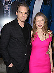 Michael C. Hall and girlfriend Morgan Macgregor attending the Broadway Opening Night Performance of 'IF/THEN' at the Richard Rodgers Theatre on March 30, 2014 in New York City.