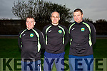 The South Kerry Management Squad pictured l-r; Will Power, William Harmon(Manager) & Humphrey Shanahan.