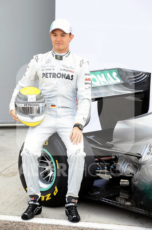 01.02.2011, Street Circuit. Jerez, ESP, Formel 1 Test 1 Valencia 2011,  im Bild  Mercedes Launch - Mercedes W02 Launch 2011 - Nico Rosberg (GER), Mercedes GP  Foto: nph / Dieter Mathis< gemischt >