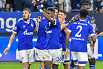 06.11.2018, Veltins-Arena, Gelsenkirchen, GER, CL, FC Schalke 04 vs Galatasaray Istanbul, DFL regulations prohibit any use of photographs as image sequences and/or quasi-video <br /> <br /> im Bild die Mannschaft von Schalke Jubel / Freude / Emotion / Torjubel / Torschuetze zum 2:0 Mark Uth (#7, FC Schalke 04) <br /> <br /> Foto &copy; nordphoto/Mauelshagen