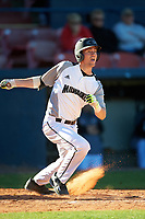 Wisconsin-Milwaukee Panthers shortstop Eric Solberg (9) at bat during a game against the Bethune-Cookman Wildcats on February 26, 2016 at Chain of Lakes Stadium in Winter Haven, Florida.  Wisconsin-Milwaukee defeated Bethune-Cookman 11-0.  (Mike Janes/Four Seam Images)