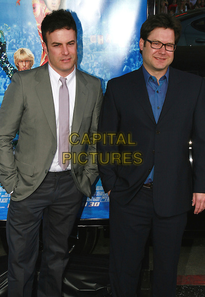 "JOSH GORDAN & WILL SPECK .""Blades of Glory"" Los Angeles Premiere held at Grauman's Chinese Theatre, Hollywood, California, USA..March 28th, 2007.half length grey gray black suit glasses .CAP/ADM/CH.©Charles Harris/AdMedia/Capital Pictures"