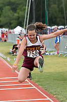 Kelly Sr. Samantha Ratledge jumps to a 12th-place finish in the Class 2 triple jump, earning a best mark of 33-01.