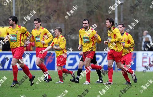 2011-02-06 / Voetbal / seizoen 2010-2011 / KSV Bornem - Dessel Sport / Jens Verroken scoorde de 1-0..Foto: mpics