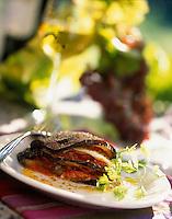 "Europe/Italie/Ombrie/Orvieto : Mille-feuille d'aubergine et tomate - Recette d'Anna-Rita Stopponi du restaurant ""I Sette Consoli"""