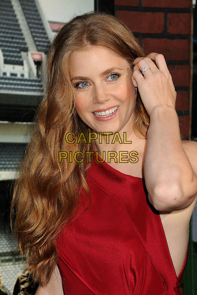 "Amy Adams.""Trouble With The Curve"" Los Angeles Premiere held at the Regency Village Theatre, Westwood, California, USA..September 19th, 2012.half length red dress hand arm diamond ring engagement .CAP/ADM/BP.©Byron Purvis/AdMedia/Capital Pictures."