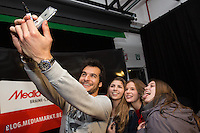EXCLUSIF : Le chanteur Amir d&eacute;dicace son album &quot; Au Coeur de moi &quot; Au Media Markt de Braine-L'Alleud, en Belgique.<br /> Belgique, Braine-L'Alleud, 16 d&eacute;cembre 2016.<br /> EXCLUSIVE : French singer Amir signs his new album &quot; Au Coeur de moi &quot; at the Media Markt store in Braine-L'Alleud in Belgium.<br /> Belgium, Braine-L'Alleud, 16 December 2016