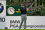 Alvaro Quiros (ESP) tees off on the 10th tee during Day 3 of the BMW PGA Championship Championship at, Wentworth Club, Surrey, England, 28th May 2011. (Photo Eoin Clarke/Golffile 2011)