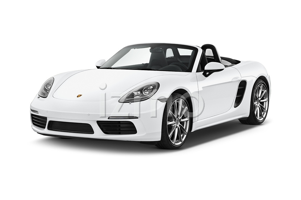 2019 Porsche 718-Boxster S 2 Door Convertible Angular Front stock photos of front three quarter view