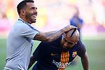 53e Trofeu Joan Gamper.<br /> FC Barcelona vs Club Atletico Boca Juniors: 3-0.<br /> Carlos Tevez &amp; Arturo Vidal.