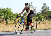 Julia Pape aus Frankfurt auf dem Rad - Mörfelden-Walldorf 15.07.2018: 10. MöWathlon