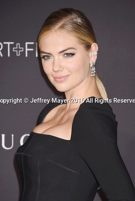 LOS ANGELES, CA - OCTOBER 29: Model/actress Kate Upton attends the 2016 LACMA Art + Film Gala honoring Robert Irwin and Kathryn Bigelow presented by Gucci at LACMA on October 29, 2016 in Los Angeles, California.