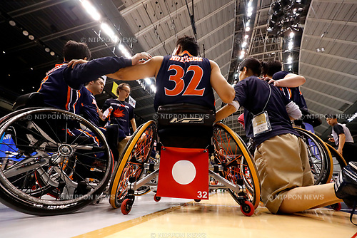 NO EXCUSE/No Excuse team group (No Excuse), <br /> MAY 5, 2017 - Wheelchair Basketball : <br /> Japan Wheelchair Basketball Championship<br /> final match between Miyagi MAX - NO EXCUSE <br /> at Tokyo Metropolitan Gymnasium in Tokyo, Japan. <br /> (Photo by Yohei Osada/AFLO SPORT)