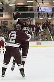 Adam Dauda (Colgate - 12), Tim Harrison (Colgate - 19) - The Harvard University Crimson defeated the visiting Colgate University Raiders 7-4 (EN) on Saturday, February 20, 2016, at Bright-Landry Hockey Center in Boston, Massachusetts,