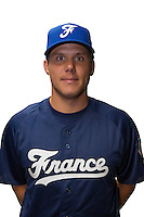 18 September 2012: Boris Marche poses prior to Team France practice, at the 2012 World Baseball Classic Qualifier round, in Jupiter, Florida, USA.