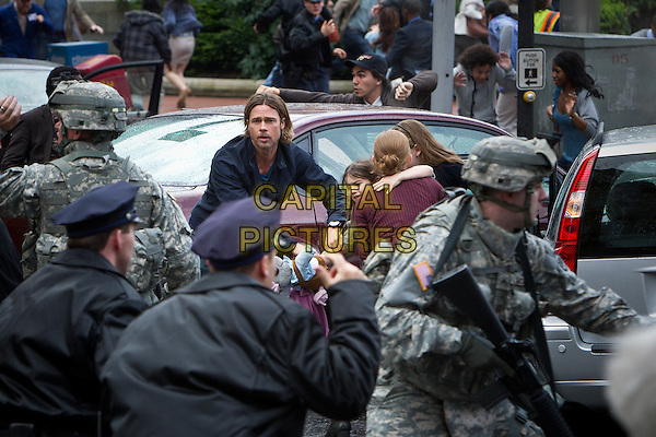 BRAD PITT<br /> in World War Z (2013) <br /> *Filmstill - Editorial Use Only*<br /> CAP/FB<br /> Supplied by Capital Pictures
