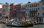 Venice-Italy - March 28, 2010 -- Gondolas / gondoliers with passengers / tourists on Grand Canal / Canal Grande (not: Canale Grande) -- infrastructure, transport, water, tourism -- Photo: © HorstWagner.eu