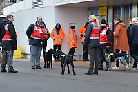 Sniffer Dogs out side the London Stadium during West Ham United vs Arsenal, Premier League Football at The London Stadium on 12th January 2019