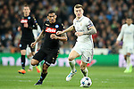 Real Madrid's Toni Kroos (r) and SSC Napoli's Allan during Champions League 2016/2017 Round of 16 1st leg match. February 15,2017. (ALTERPHOTOS/Acero)