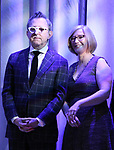 Thomas Schumacher and Heather Hitchens attend the 2018 Tony Awards Nominations Announcement at The New York Public Library for the Performing Arts on May 1, 2018 in New York City.