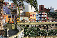 Spain, Canary Islands, La Palma, Tazacorte: village centre