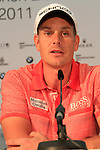 Overnight leader Henrik Stenson in the interview room during Day 2 of the BMW International Open at Golf Club Munchen Eichenried, Germany, 24th June 2011 (Photo Eoin Clarke/www.golffile.ie)